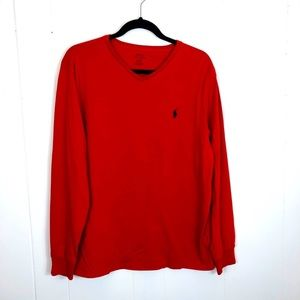 Polo by Ralph Lauren Thermal V-Neck Sz L